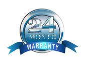 Garantía de 24 meses icono azul — Foto de Stock