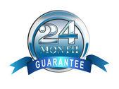 Icono de garantía de 24 meses azul — Foto de Stock