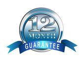 Garantía de 12 meses icono azul — Foto de Stock