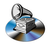 Phonograph on CD — Stock Photo
