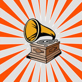 Phonograph with Sunburst — Stock Photo