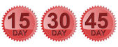 Number Days in Red Seal Icon — Stock Photo