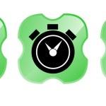 Padlock Alarm Clock 99.9 percent in Shield — Stock Photo #30010111