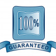 100 percent Satisfaction Guaranteed in Shield — Stock Photo
