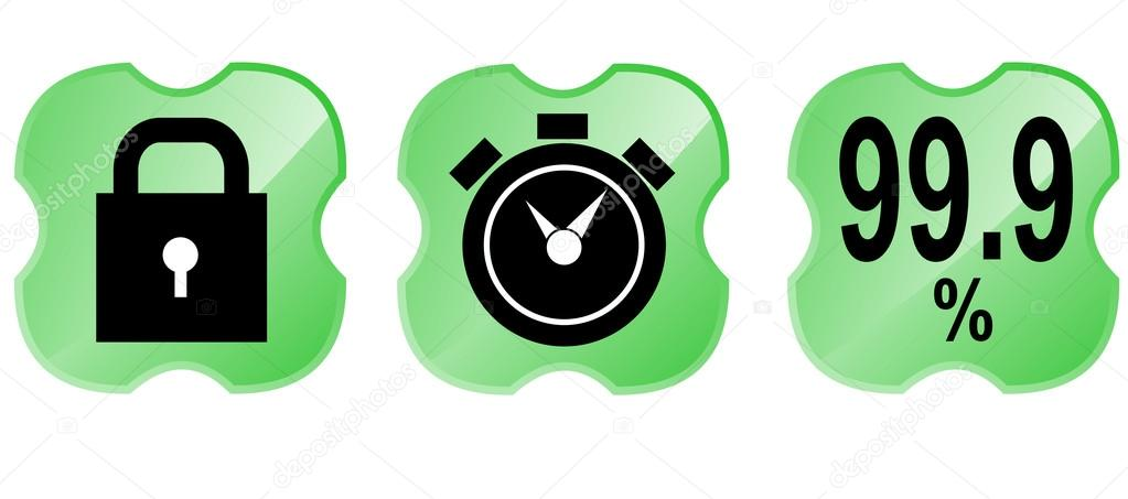 9%图标里面一个绿色盾牌十字架上孤立的白色背景在复