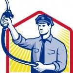 Gas Jockey Gasoline Attendant Fuel Pump Nozzle — Stock Vector #31084123