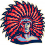 Native American Indian Chief Warrior Retro — Stock Vector #31322537