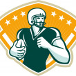 Постер, плакат: American Football Runningback Crest