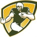 Постер, плакат: American Football Running Back Shield