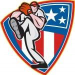 Постер, плакат: American Baseball Pitcher Shield
