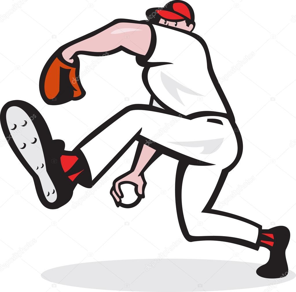 dibujos animados b u00e9isbol lanzador lanzar bola vector de vector baseball ball free vector baseball ball