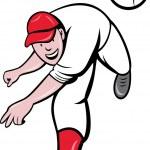Постер, плакат: Baseball pitcher