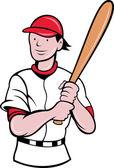 Beyzbol suikastçı vuruş — Stok Vektör