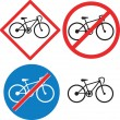 Bicycle Road Sign Symbol — Stock Vector