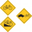 Bicycle Road Sign Symbol — Stok Vektör