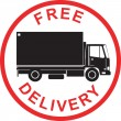 Free Delivery Truck Retro — Stock Vector