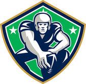 American Football Center Snap Front Shield — Cтоковый вектор