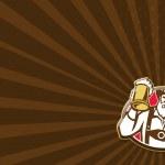 Постер, плакат: Bavarian Barman Bartender Retro