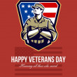 Stock Photo: AmericSoldier Veterans Day Greeting Card