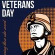 Stock Photo: Happy Veterans Day ServicemGreeting Card