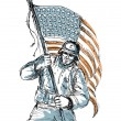 American Soldier Happy Veterans Day Greeting Card — Stock Photo #38809925