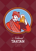 National Tartan Day Beer Drinker Greeting Card — Stock Photo