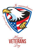 Happy Veterans Day American Eagle Greeting Card — Stock Photo