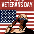 Stock Photo: Veterans Day Greeting Card American