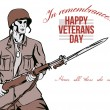Stock Photo: Veterans Day Greeting Card AmericSoldier