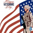 Modern American Veteran Soldier Greeting Card — Stock Photo #38811975