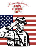 American Veterans Day Greeting Card — Stock Photo