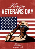 Veterans Day Greeting Card American — Stock Photo