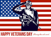 US Veterans Day Remembrance Greeting Card — Stock Photo
