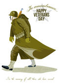 World War Two Veterans Day Greeting Card — Stock Photo