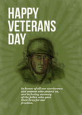 World War two Veterans Day Soldier Card Sketch — Stock Photo