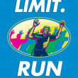 Stock Photo: Marathon Runner Push Limits Poster