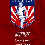 American Marathon Runner Good Legs Poster — Stock Photo #39127657
