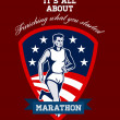 Marathon Runner Finish What You Start Poster — Stock Photo