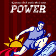 Runner Running Power Poster — Stock Photo