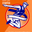 Marathon Finish What You Started Retro Poster — Stock Photo