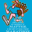 Stock Photo: Turkey Marathon Runner Poster