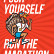 Stock Photo: Turkey Run Marathon Runner Poster