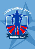 Run Marathon Achieve Something Poster — Stock Photo