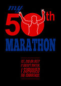 50th Marathon Race Poster — Stock Photo