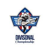 American Football Divisional Championship — Stock Photo