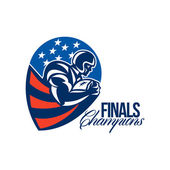 American Football Finals Champions Retro — Stock Photo