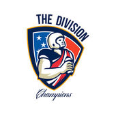 American Football Quarterback Division Champions — Stock Photo