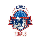 American Football QB Series Finals Crest — Stock Photo