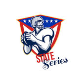 American Football Quarterback State Series — Stock Photo