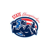 Quarterback State Championships Retro — Stock Photo